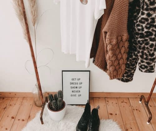 clothing rack visual styling