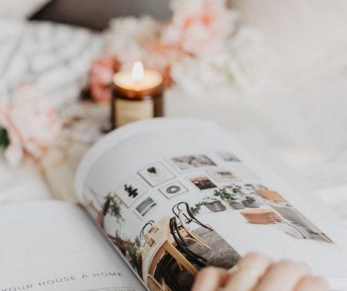 fashion magazine candle