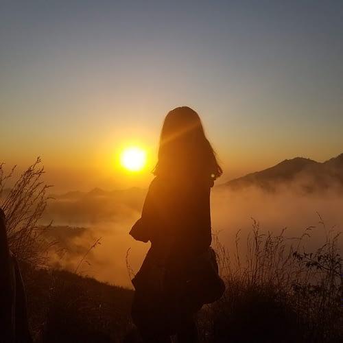 mount batur sunset