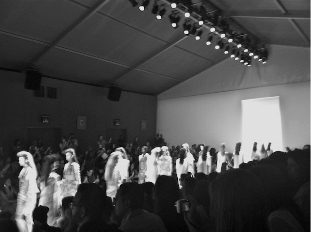 black and white runway finale