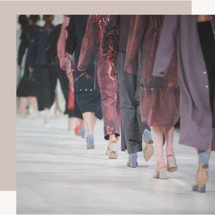 runway fashion show models