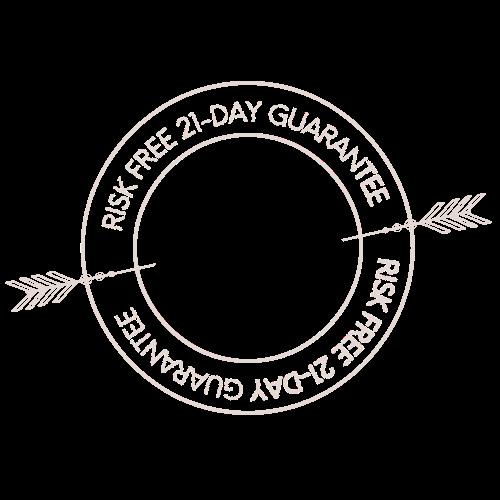 21 day risk free guarantee pink logo