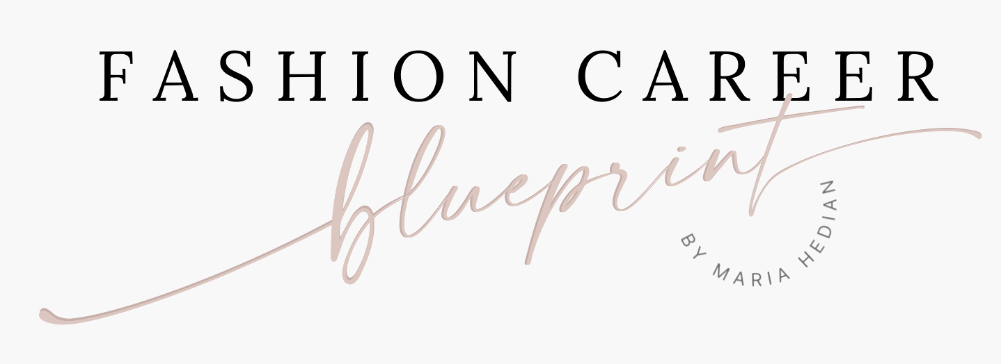 Fashion career blueprint logo by maria hedian