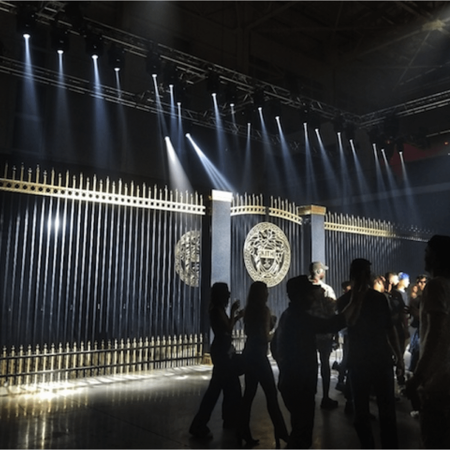 dark runway for fashion show