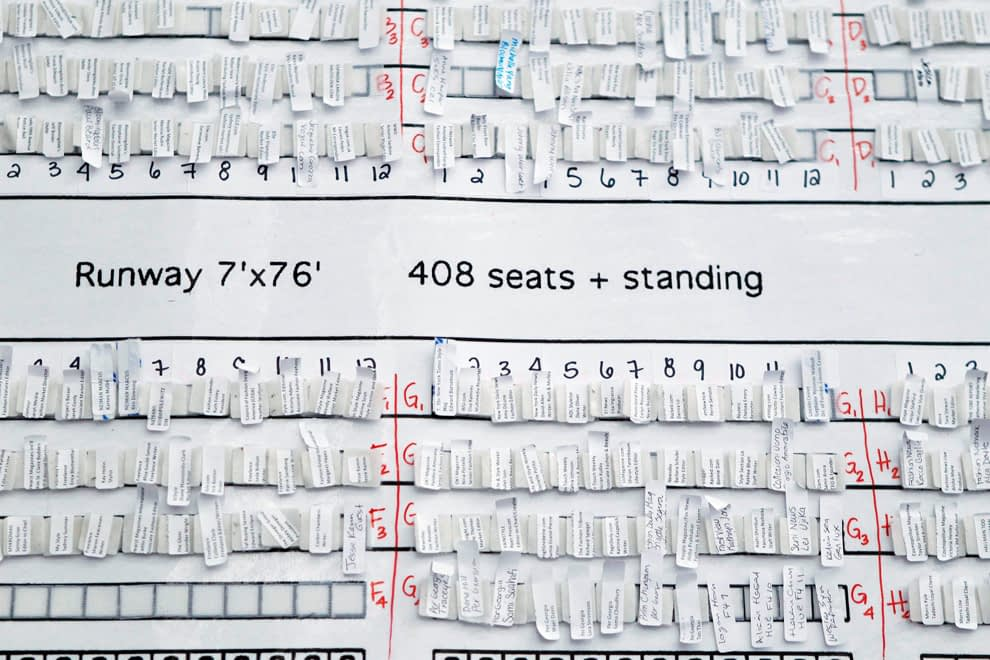 fashion week seating chart