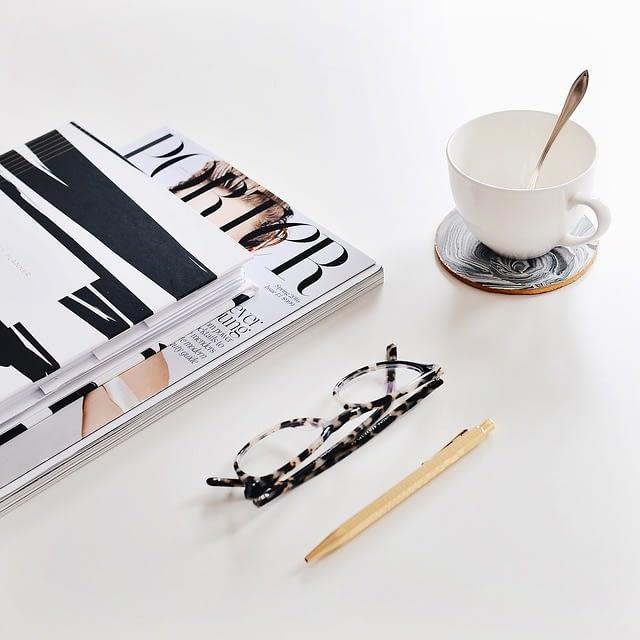 fashion books coffee fashion eyeglasses