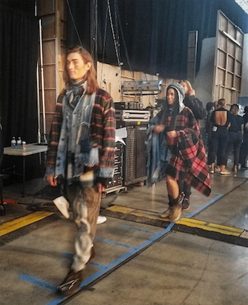 Backstage models show